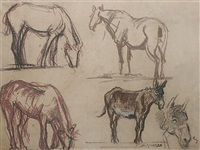 charles-angrand-study-of-horses-and-donkeys